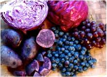 eating a rainbow: purple fruit and veg